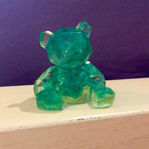 Handmade Resin Glitter Bear